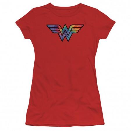 Wonder Woman Tie Dye Logo Women's Tshirt