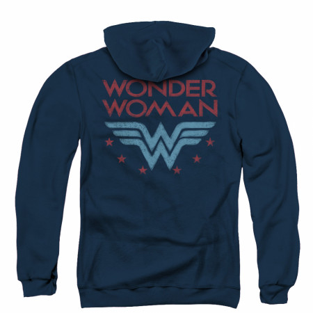 Wonder Woman Logo Zip Up Hoodie
