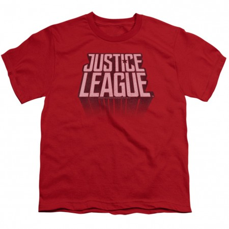 Justice League Logo Youth Red Tshirt