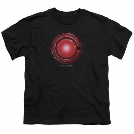 Justice League Cyborg Logo Youth Tshirt