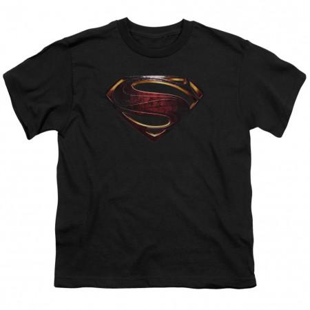 Justice League Superman Logo Youth Tshirt