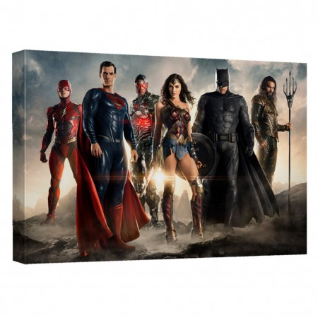 Justice League Team Up 16x20 Canvas Print