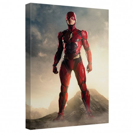 Justice League Flash 16x20 Canvas Print