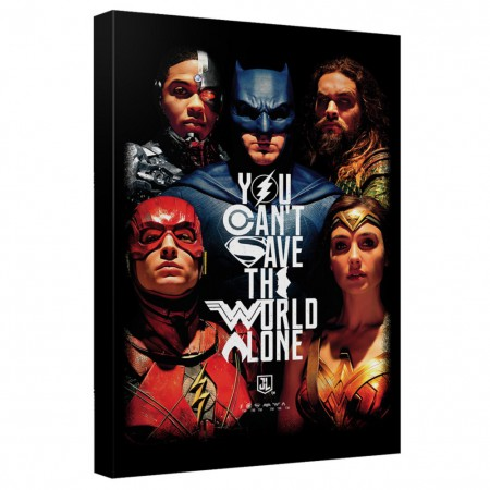 Justice League Save The World 16x20 Canvas Print