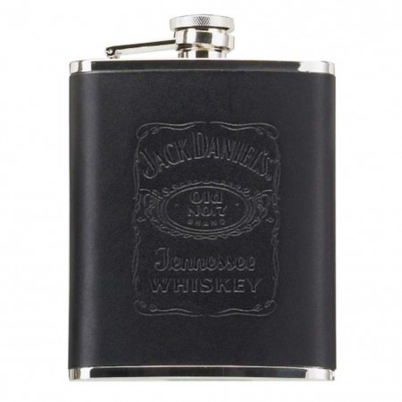 Jack Daniel's Black Leather Jumbo Flask