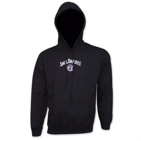 Jack Daniel's Classic Label Black Graphic Hoodie Sweatshirt