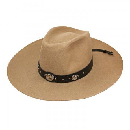 Jack Daniels Beige Soft Wool Hat