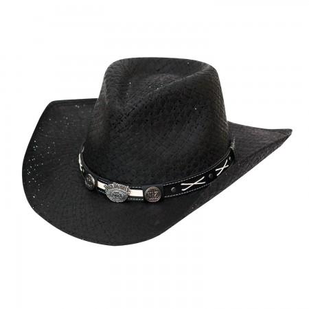 Jack Daniels Black Straw Cowboy Hat
