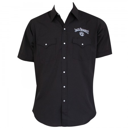 Jack Daniels Men's Black Button Down Shirt