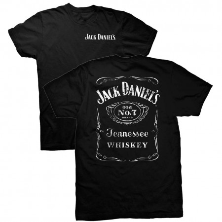 Jack Daniels Men's Black Double Sided T-Shirt