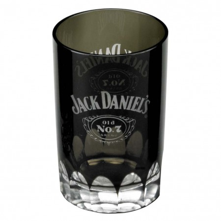 Jack Daniels Old No. 7 Faceted Black Shot Glass
