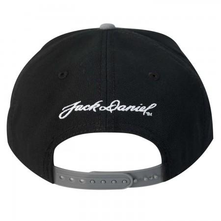 Jack Daniels Flat Brim Black & Grey Snapback Hat
