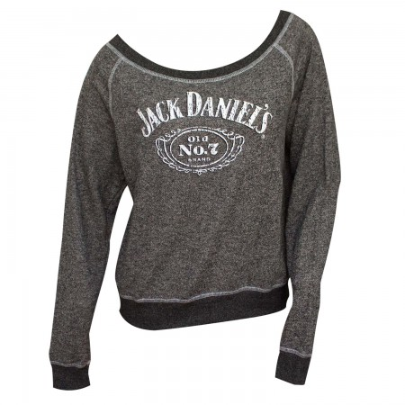 Jack Daniel's French Terry Women's Pullover Grey Sweatshirt