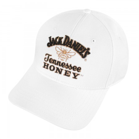 Jack Daniels White Tennessee Honey Logo Hat