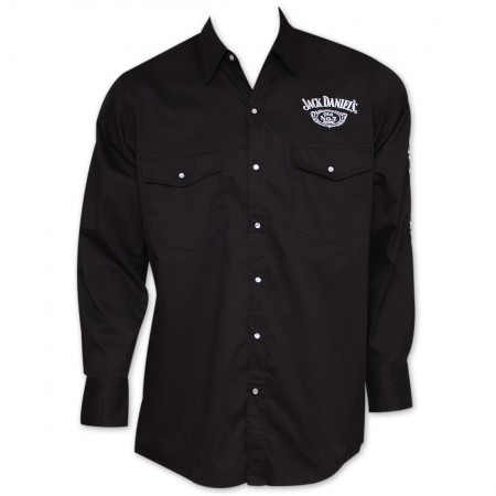 Jack Daniel's Button-Up Long-Sleeve Shirt - Black