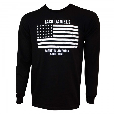 Jack Daniels Men's Black Made In America Long Sleeve T-Shirt