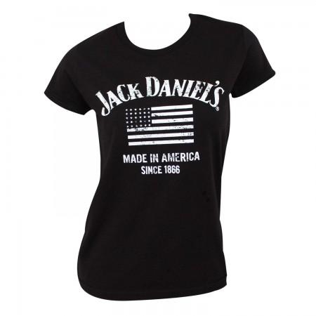 Jack Daniels Women's Black Made In America T-Shirt