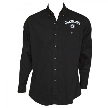 Jack Daniel's Old No. 7 Long Sleeve Men's Black Button Up Shirt