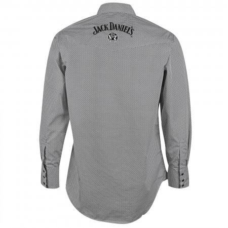 Jack Daniels Geo Print Long Sleeve Gray Button Up Shirt