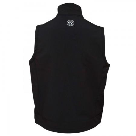 Jack Daniel's Softshell Zip-Up Men's Black Vest