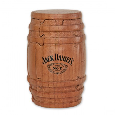 Jack Daniel's Whiskey Barrel Wooden Puzzle