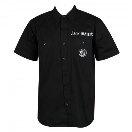 Jack Daniel's Short Sleeve Button Up Black Shirt