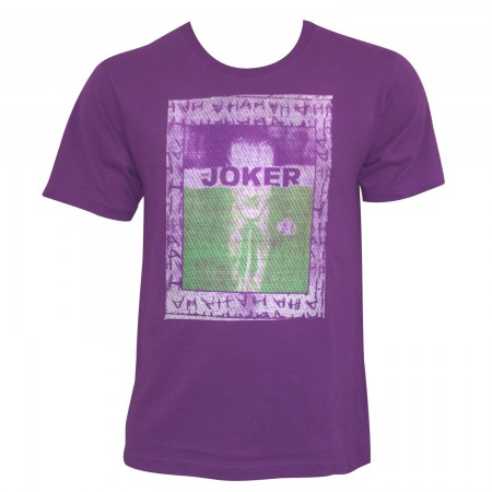Joker Men's Purple Embroidered Frame T-Shirt