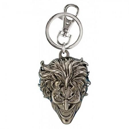 The Joker Silver Pewter Keychain