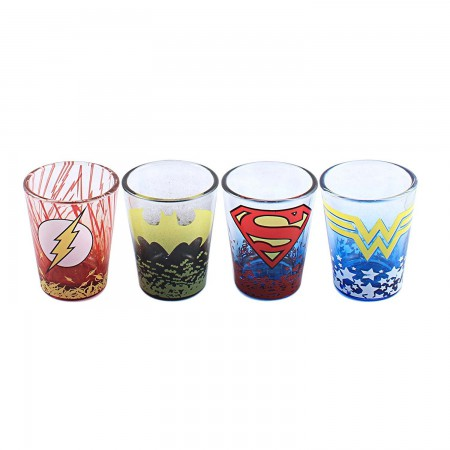 DC Comics Superhero Shot Glass Set