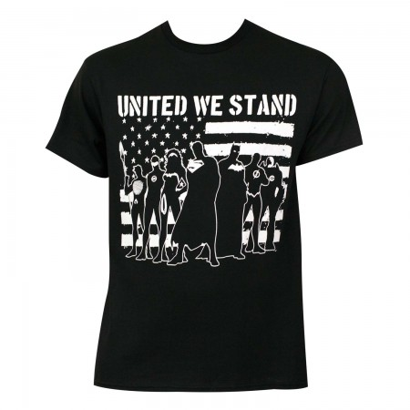 Justice League Men's Black United We Stand T-Shirt