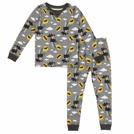 Batman 2-Piece Thermal Long Pajama Set