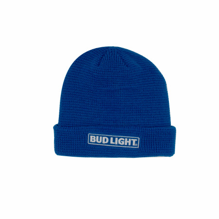 Bud Light Label Patch Knit Cuff Beanie