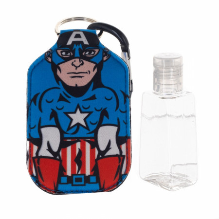 Captain America Marvel Character Neoprene Bottle Keychain