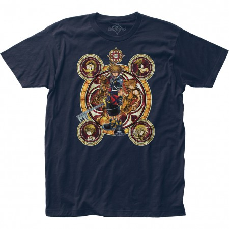 Kingdom Hearts Characters Crest Tshirt