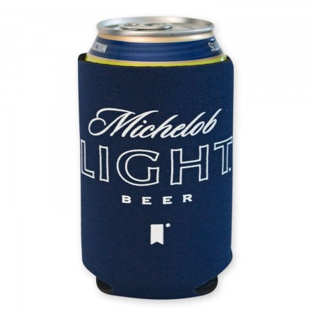 Michelob Light Navy Blue Can Cooler
