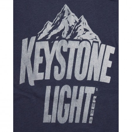 Keystone Light Logo Navy Blue Womens Graphic Tank Top