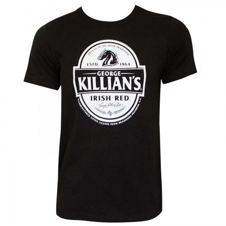 Killian's Logo Black Tee Shirt