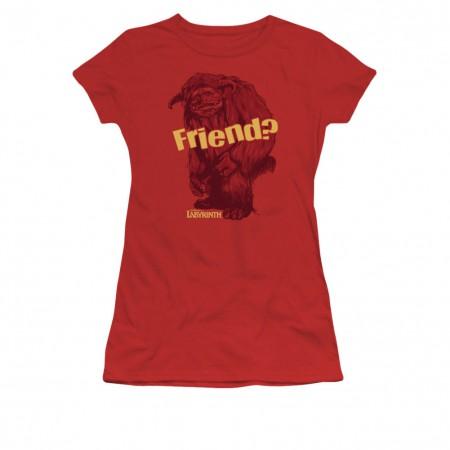 Labyrinth Ludo Friend Red Juniors T-Shirt