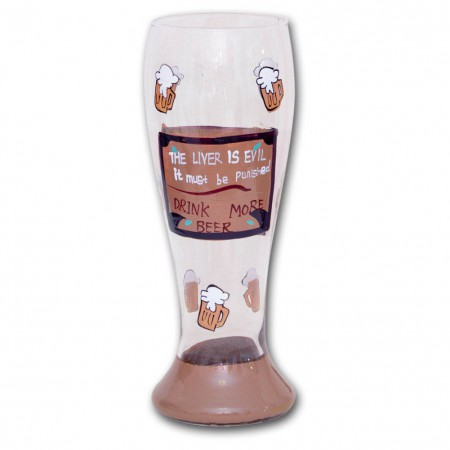 The Liver is Evil Beer Glass