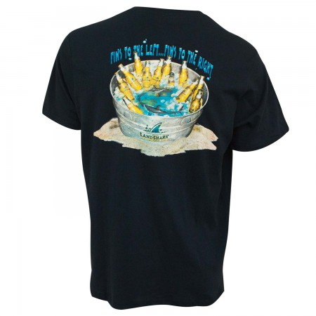 Landshark Men's Blue Beer Bucket T-Shirt