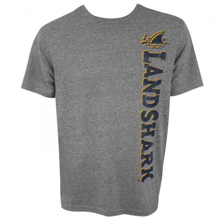 Landshark Vertical Logo Men's Grey T-Shirt