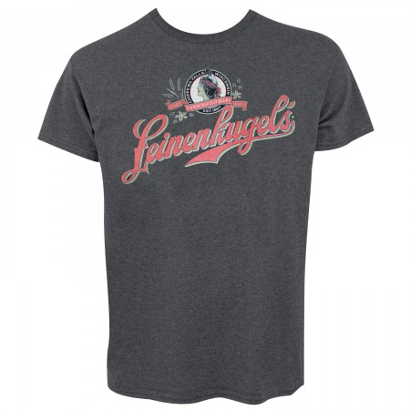 Leinenkugel's Logo Men's Charcoal Gray T-Shirt