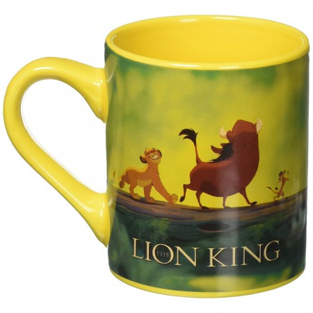 Lion King Hakuna Matata 14oz Ceramic Yellow Mug
