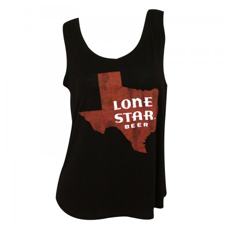 Lone Star Retro Brand Women's Black Texas Logo Tank Top