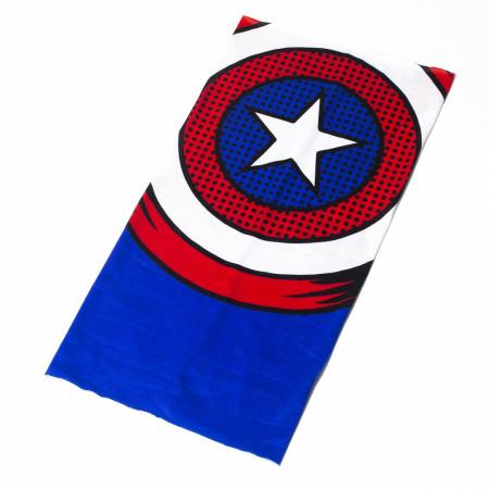 Captain America Character Costume Full Face Tubular Bandana Gaiter