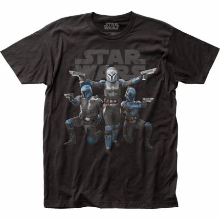 Star Wars The Mandalorian Nite Owls Poster T-Shirt