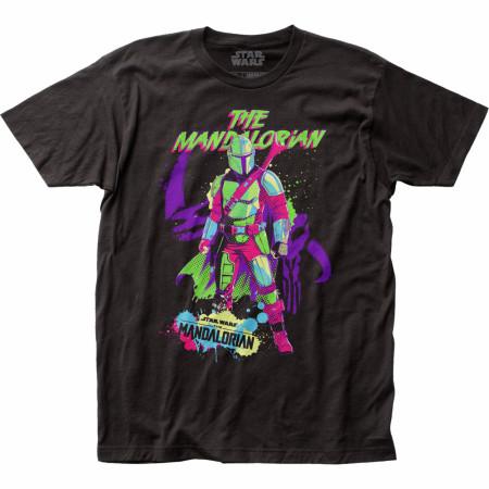 Star Wars The Mandalorian Neon Retro Styled T-Shirt
