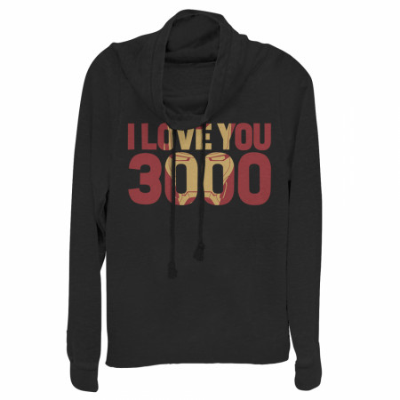 Marvel Iron Man Love 3000 Mask Cowl Neck Sweatshirt