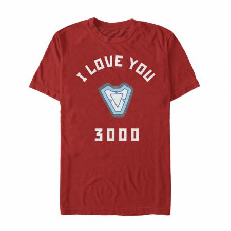 Marvel I Love You 3000 Iron Man Reactor T-Shirt