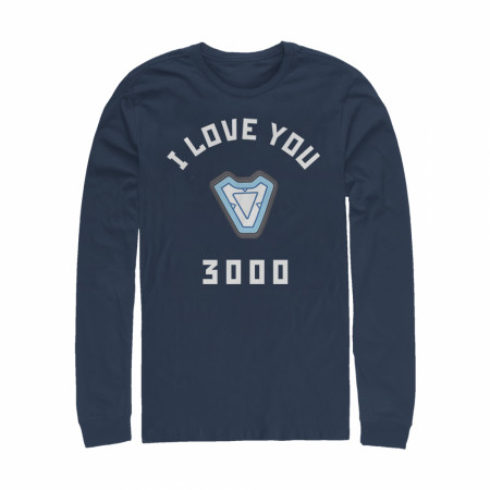 Marvel I Love You 3000 Iron Man Reactor Long Sleeve Shirt